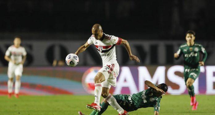 Sao Paulo Palmeiras result today |  Sao Paulo equals Palmeiras in the Copa Libertadores 2021 |  total departure