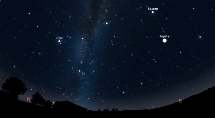 Saturn will shine brightly in the night sky on Sunday, August 1 and Monday, August 2