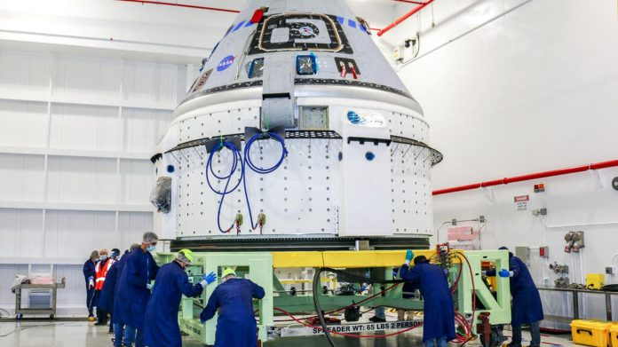 Starliner, Boeing space capsule returns to factory, delays test flight for several months