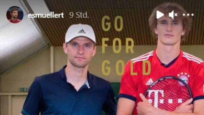 Thomas Muller is excited about Olympic star Zverev in a Bayern shirt - and suddenly he praises himself