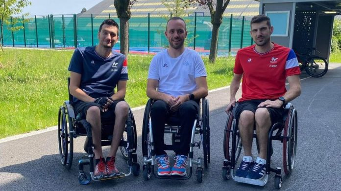 De gauche à droite, Matthieu Thiriet, Jonathan Hivernat et Rodolphe Jarlan, tous issus du Stade Toulousain Rugby Handisport