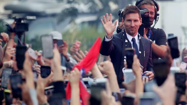 To Paris Saint-Germain at breathtaking speed: Football god Lionel Messi transforms the cloud