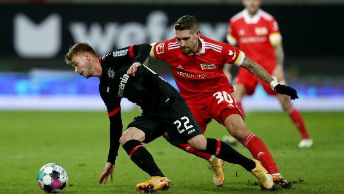 Das Hinspiel gewann Union Berlin mit 1:0 gegen Bayer Leverkusen.