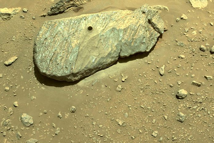 Perseverance succeeds in collecting a sample from Mars