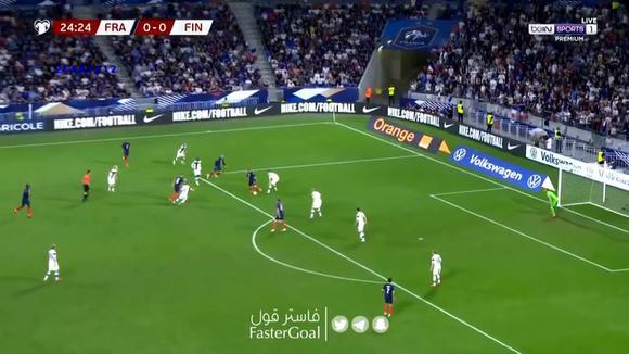 France 1-0 Finland: goal by Antoine Griezmann.  (Video: Bein Sports)