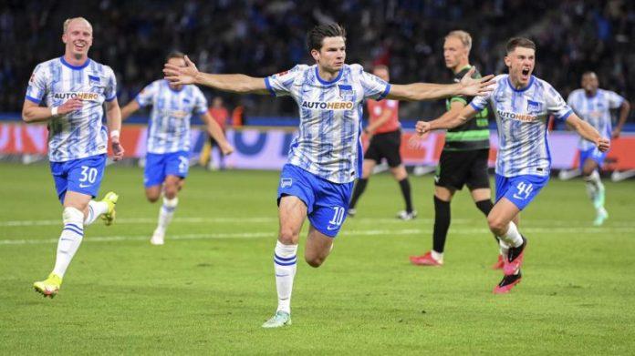 Bundesliga debutant Ekelencomp defends Hertha BSc against Ford