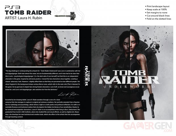 Principal art for Tomb Raider Underworld has completely revisited Laura H. Rubin's 25th Anniversary art cover work