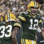 Aaron Rodgers luce para darle la victoria a los Packers.