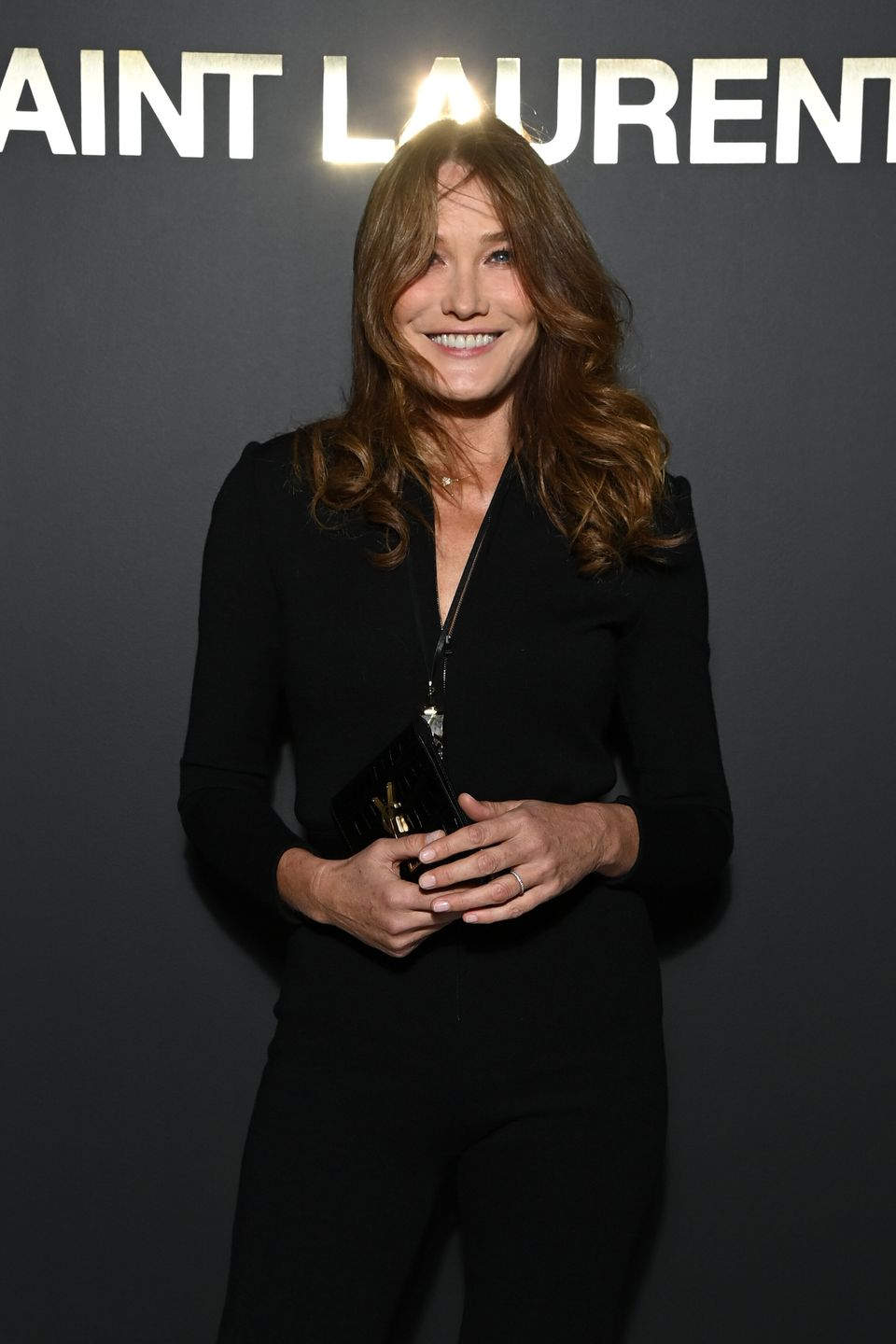 Carla Bruni became a model again at the Oliver Balmain show