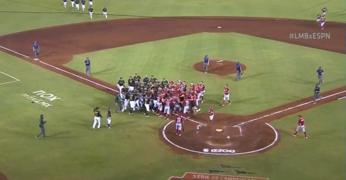LMB: Fight stole the limelight in the South Zone final between Diablos Rojos and Leones de Yucatán