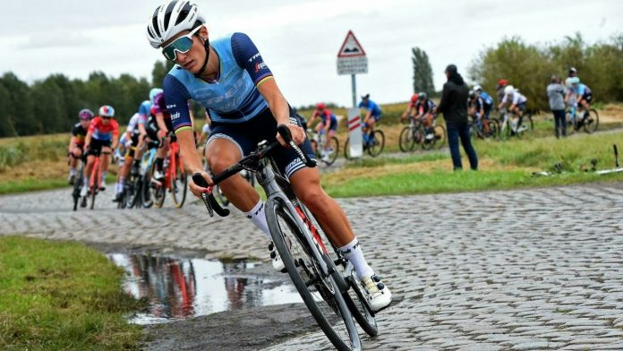 Britain's Lizzie Digna wins the first woman Paris-Roubaix in history