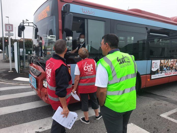 Trois opérations de filtrage avaient été menées dans des dépôts Tisséo jeudi 16 septembre 2021 : le trafic des bus avait été perturbé à Toulouse