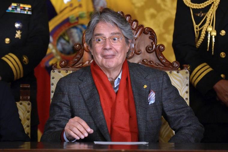 Ecuadorean President Guillermo Laso, August 31, 2021 (AFP/RODRIGO BUENDIA)