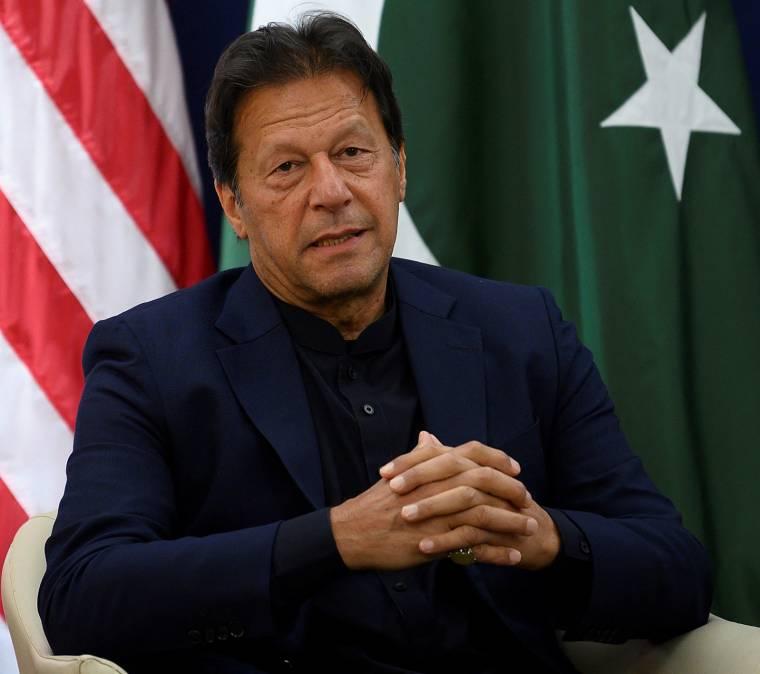 Imran Khan, January 21, 2020 in Davos.  (AFP/Jim Watson)