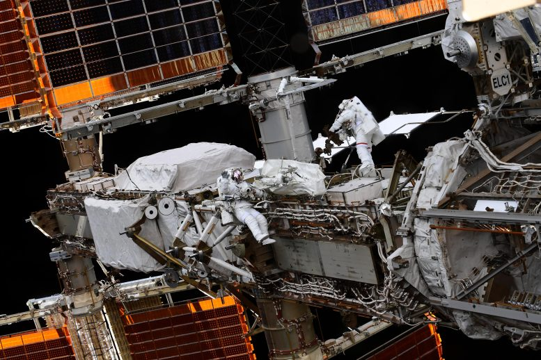 astronauts at work