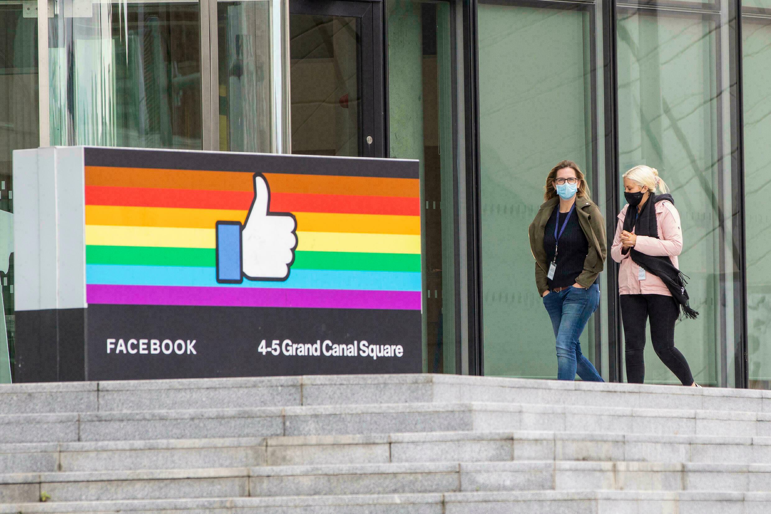 Facebook offices in Dublin's central business district on October 7, 2021