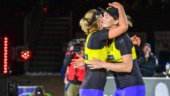 Beach volleyball: Burger / Soddy enjoying their victory: 'Unbelievable' |  hessenschau.de