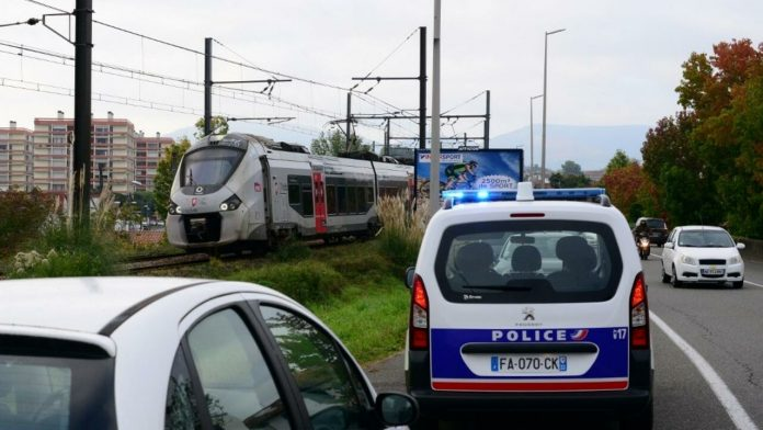 Three people were killed when they were hit by a train