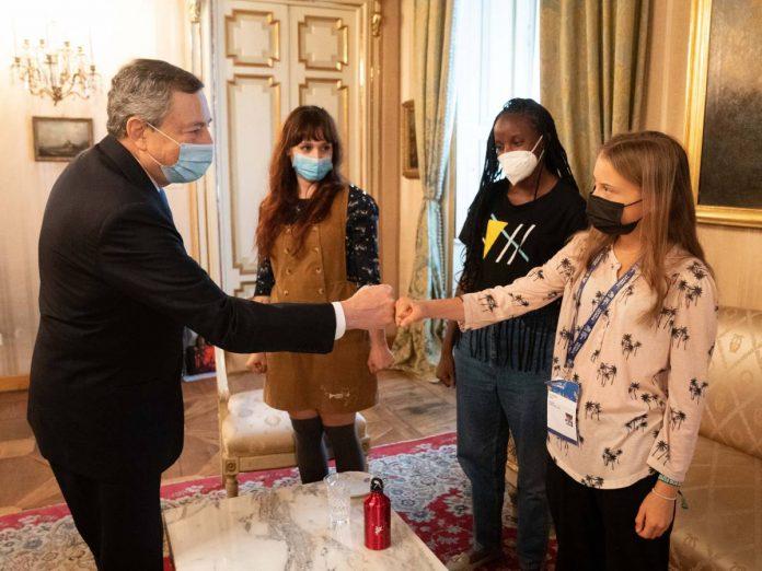 Draghi dumps Greta, Sarkozy