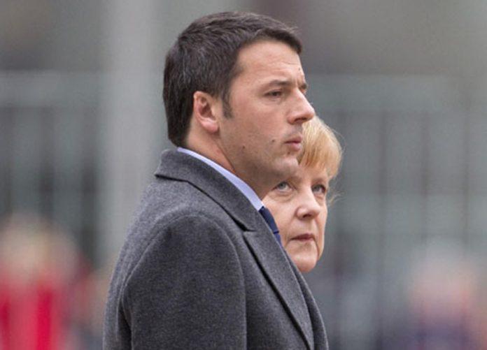 Merkel was born into the race for leadership.  Renzi hopes to maneuver Draghi