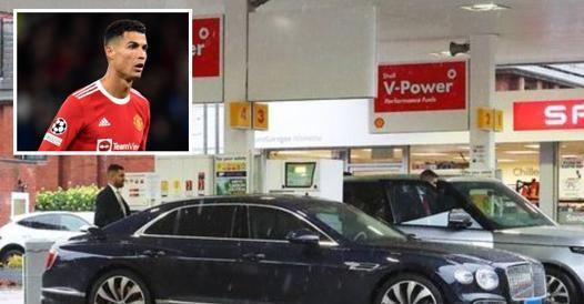 Ronaldo, gasoline is missing for Bentley in England - Corriere.it